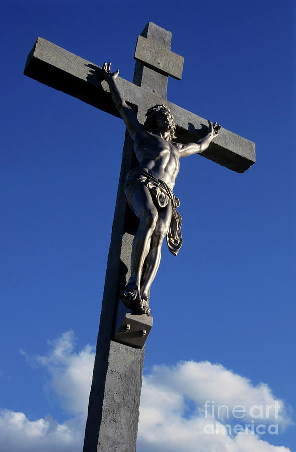 Bouches-du-rhone Photograph - Statue Of Jesus Christ On The Cross by Sami Sarkis