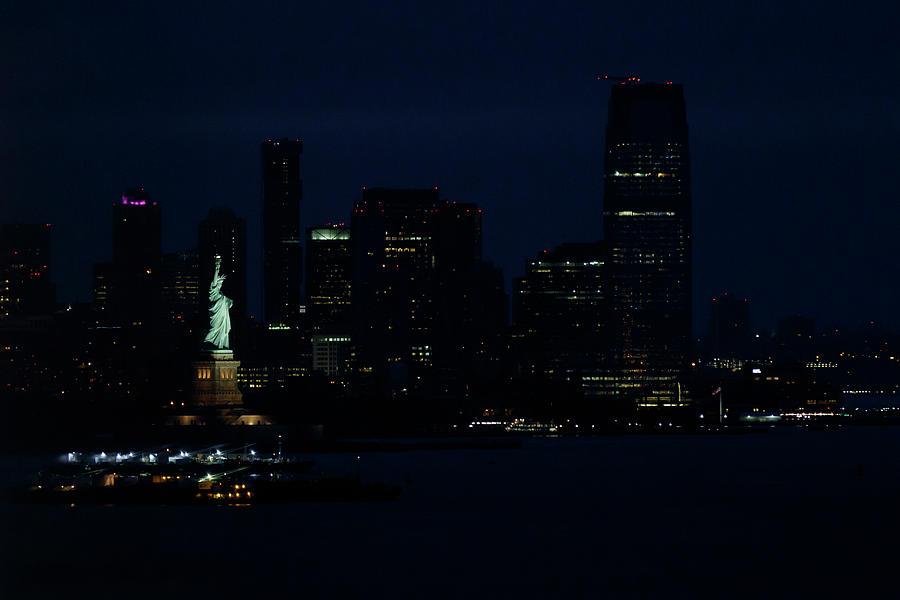 Statue Of Liberty At Dawn. Photograph