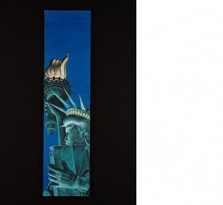 Statue Of Liberty At Twilight Painting by Joseph Greenawalt