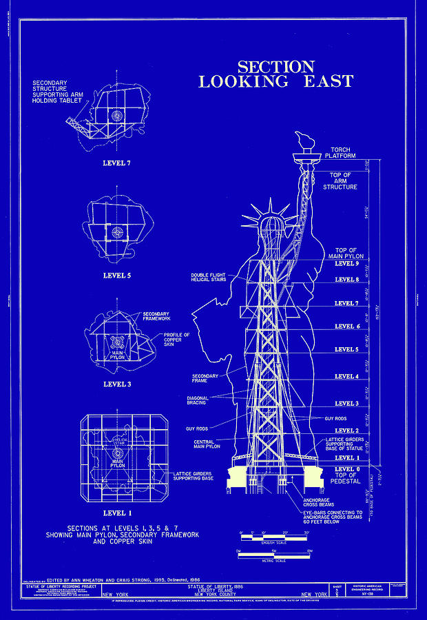 Statue of liberty blueprint photograph by andrew fare new york photograph statue of liberty blueprint by andrew fare malvernweather Image collections
