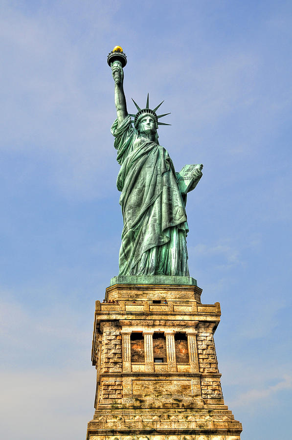 Nyc Photograph - Statue Of Liberty Front View by Randy Aveille