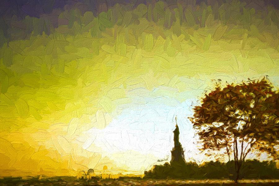 Statue Of Liberty Digital Art - Statue Of Liberty - Nyc by Matthew Ashton