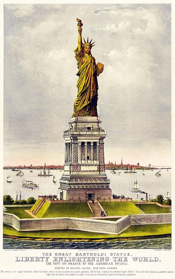Pd Painting - Statue Of Liberty by Pg Reproductions