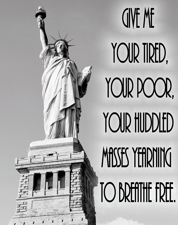 Statue Of Liberty Quote Magnificent Statue Of Liberty Quote Mixed Media By Dan Sproul