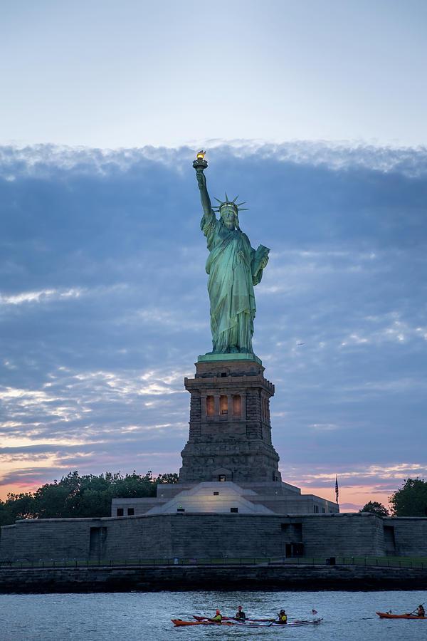 Statue of Liberty - Sunset by Frank Mari