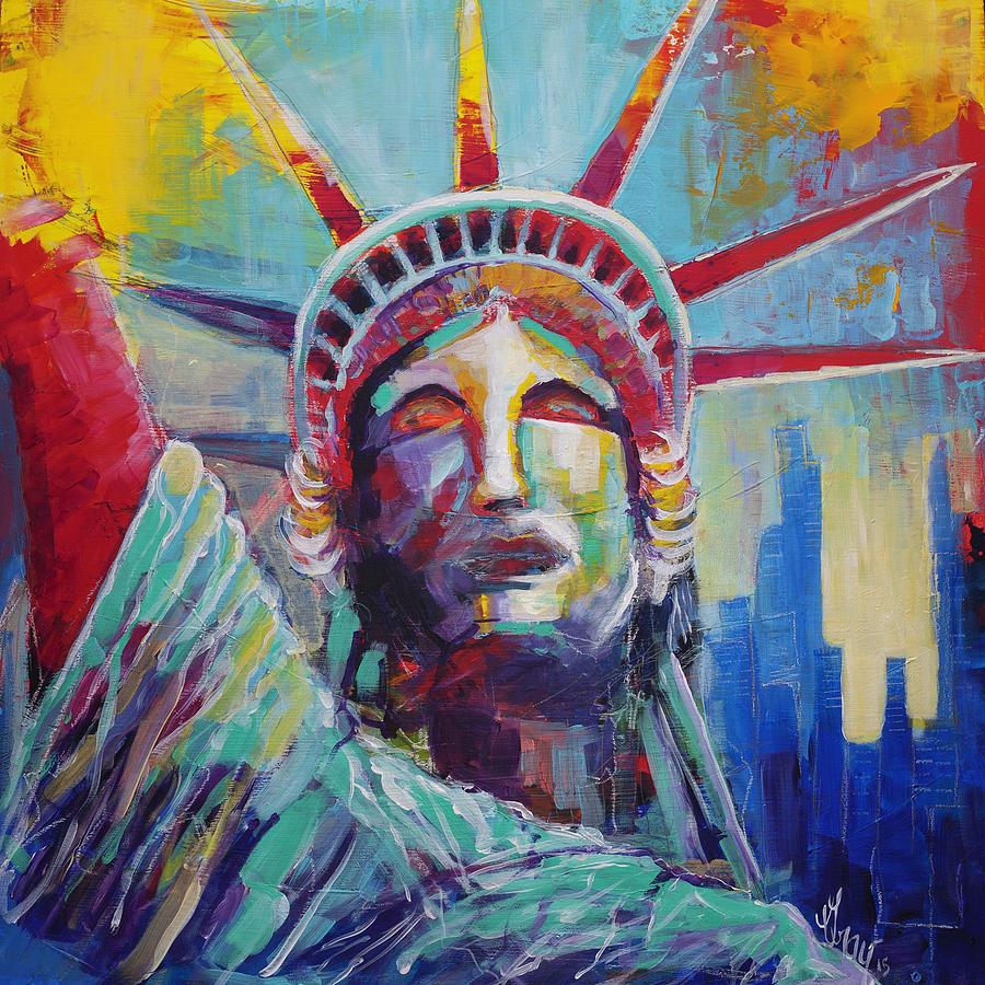Statue Of Liberty Usa Wall Art New York City Lady Liberty Painting