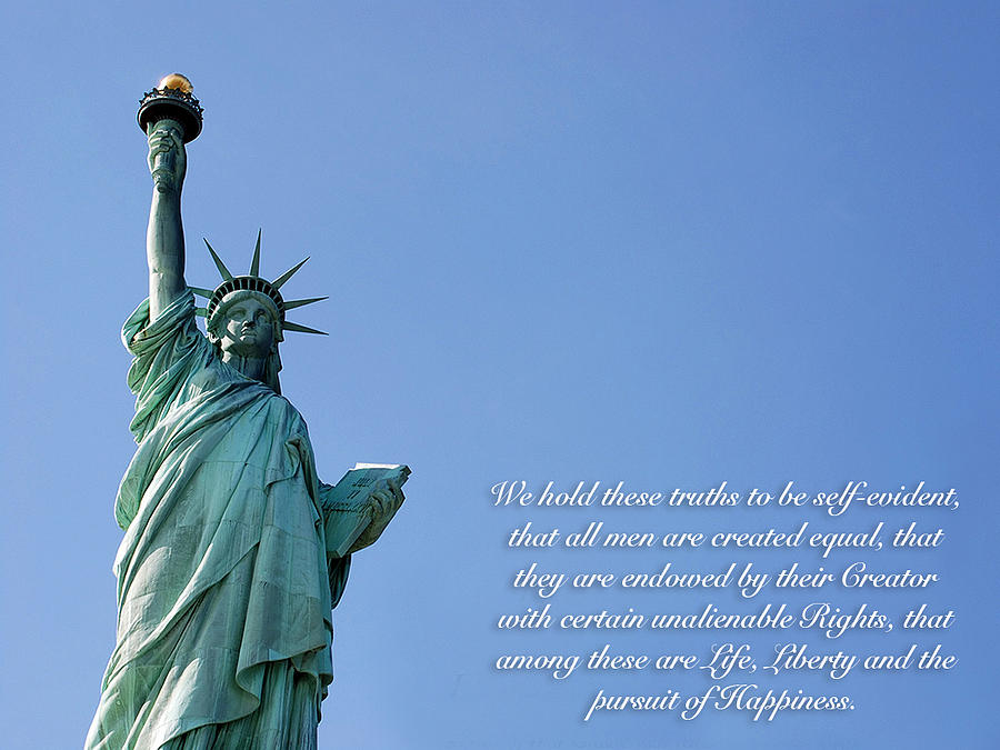 Statue Of Liberty Quote Statue Of Liberty With Quote Photographgregory Lovett