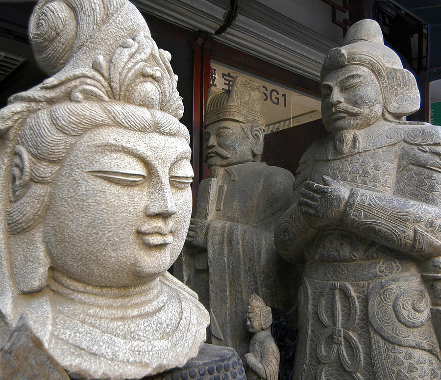 China Photograph - Statues by Murray Bloom