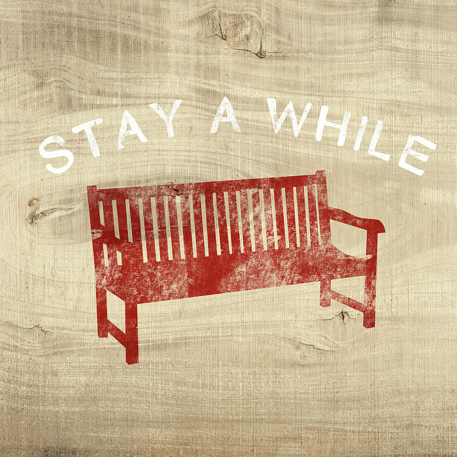 Country Mixed Media - Stay A While- Art By Linda Woods by Linda Woods