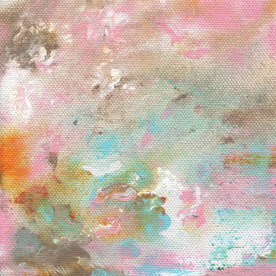 Stay- Abstract Art By Linda Woods Painting