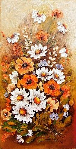 Flowers Painting - Stay Hidden by Abrudan Mariana