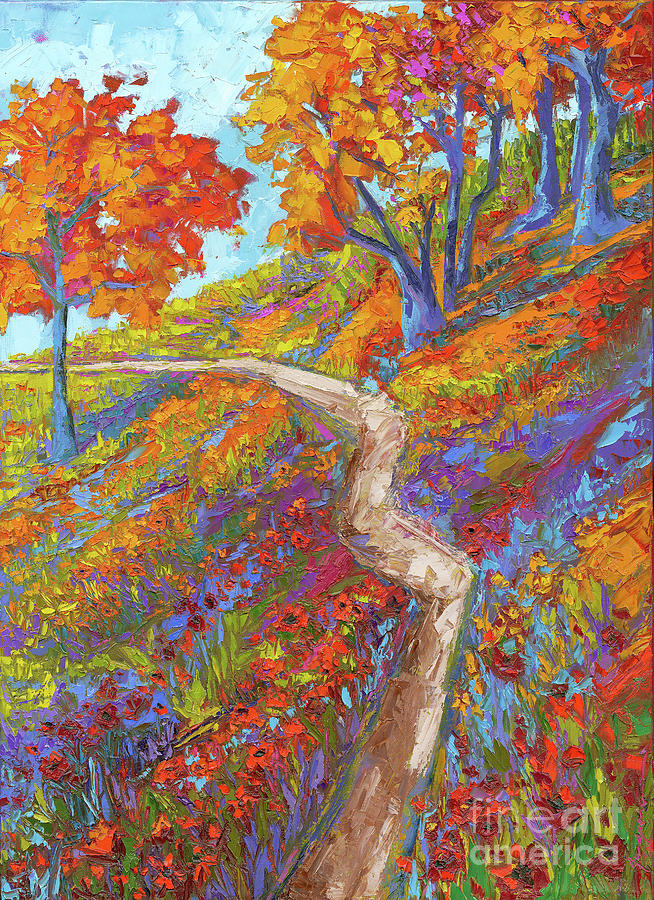 Stay On The Path - Modern Impressionist, Landscape ...