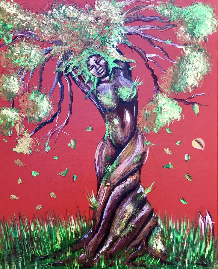 Tree Painting - Stay Rooted- Stay Grounded by Artist RiA