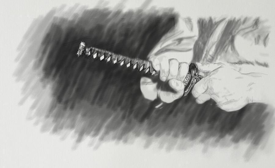 Samurai Mixed Media - Steady by TortureLord Art