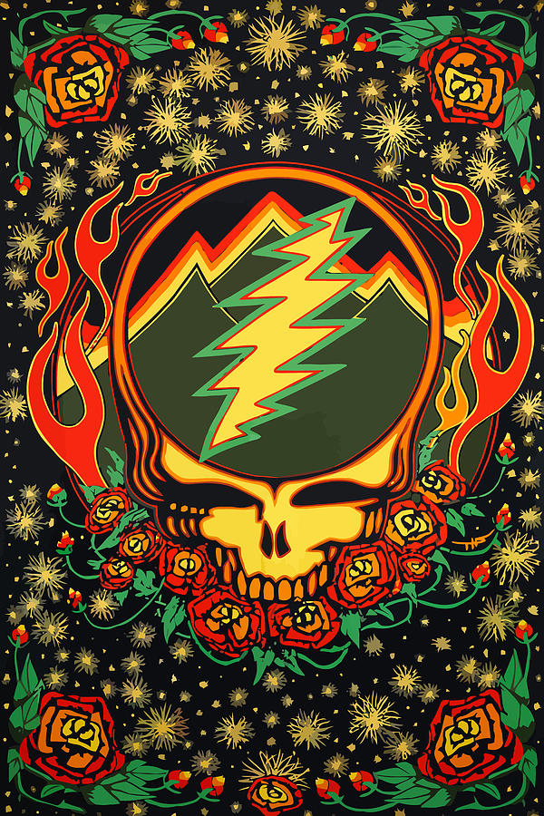 Grateful Dead Digital Art - Steal Your Face Special Edition by The Steal