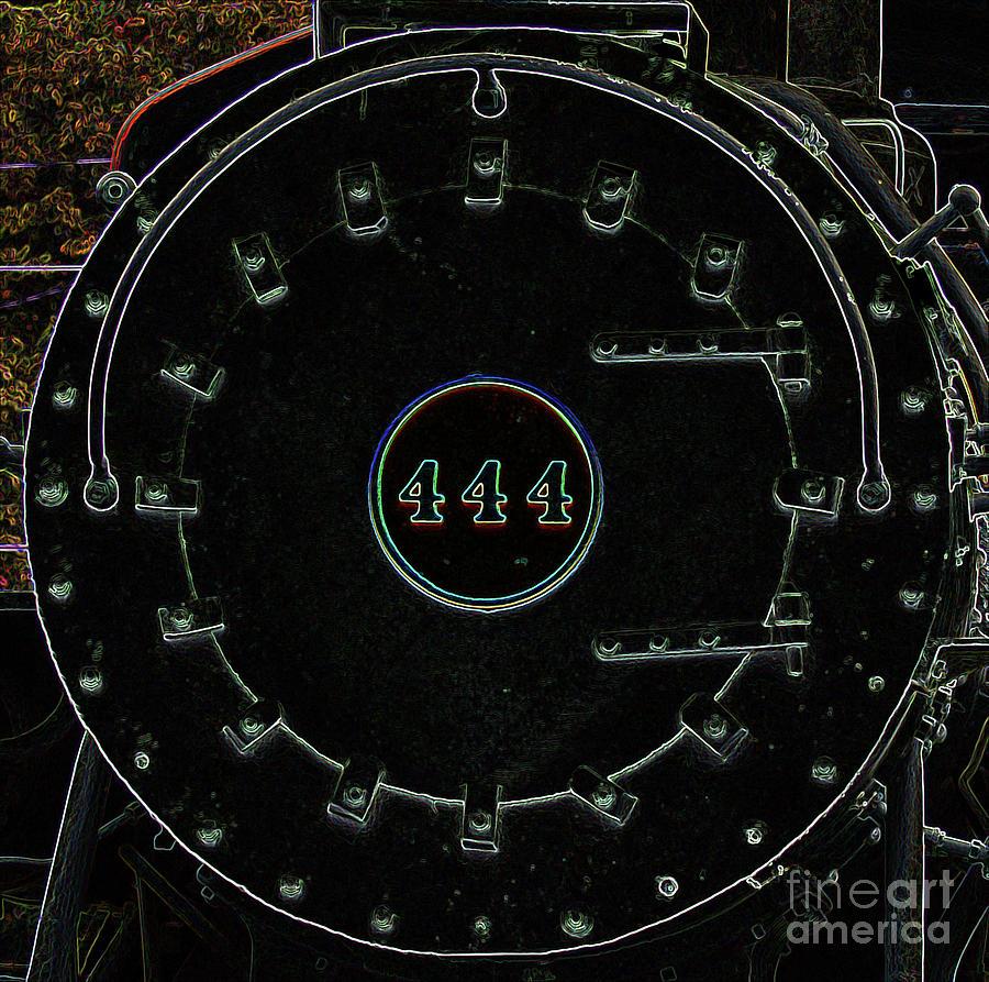 Steam Engine 444 Photograph - Steam Engine 444 by Kim Pate