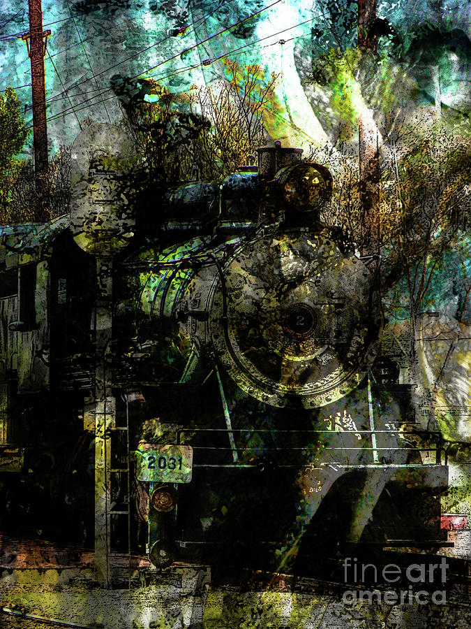 Texture Photograph - Steam Engine At Bay by Robert Ball