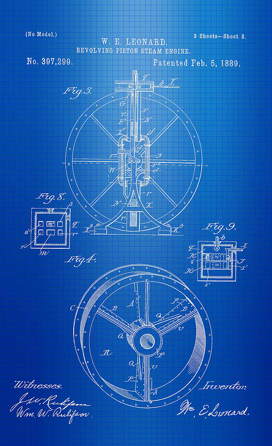 Steam engine blueprint photograph by brooke roby steam engine photograph steam engine blueprint by brooke roby malvernweather Gallery