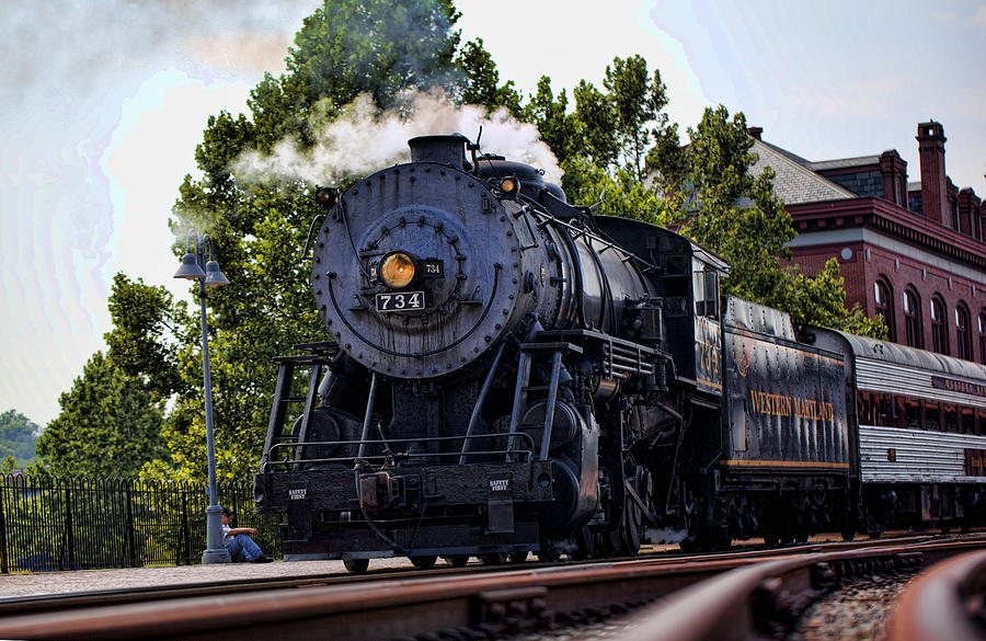 Steam Engine Photograph - Steam Engine Of Cumberland by Christina Durity