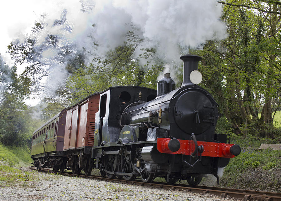 Steam Photograph - Steam Locomotive 3298 In Cornwall by Tony Mills