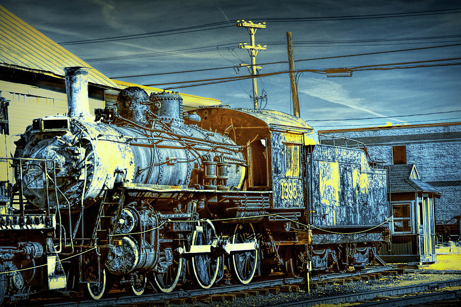 Locomotive Photograph - Steam Locomotive Train Engine No.1395 In Infrared by Randall Nyhof