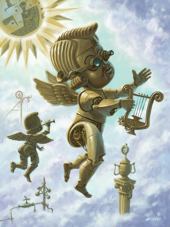 Steam Punk Cherubs by Martin Davey