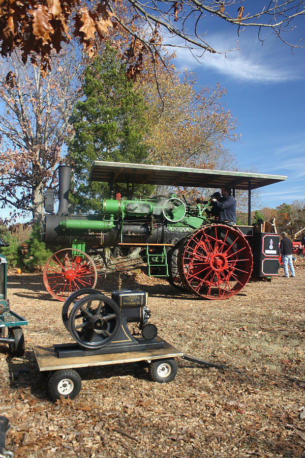 Autumn Photograph - Steam Tractor by Kevin  Sherf
