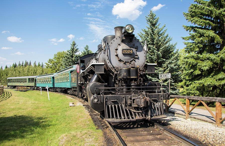 Steam Train, Heritage Park, Calgary, Alberta by Venetia Featherstone-Witty