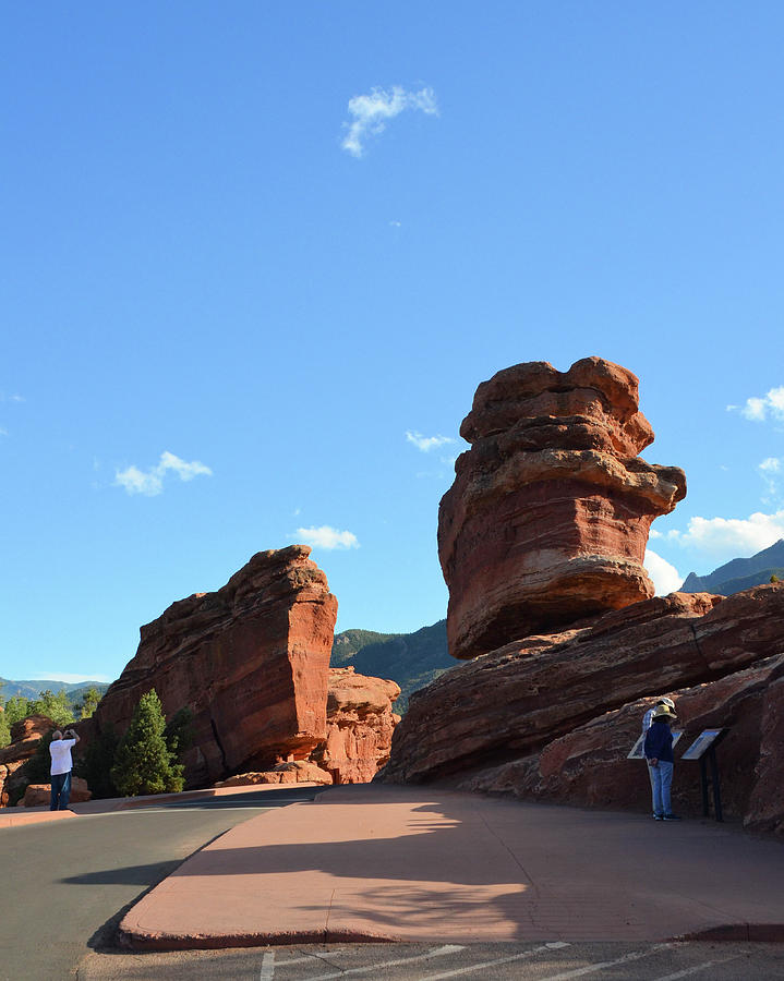 Steamboat Rock And Balanced Rock In Garden Of The Gods Colorado