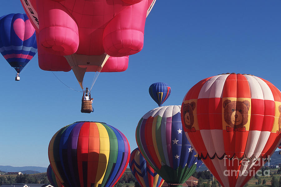 Colorado Photograph - Steamboat Springs Balloons by Stan and Anne Foster