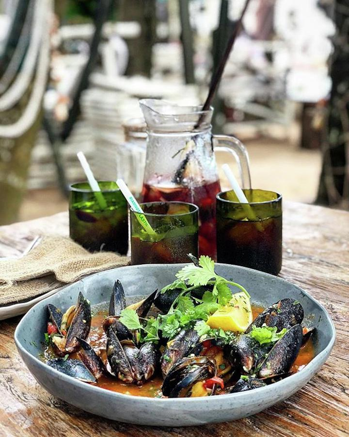 Beach Photograph - Steamed Black Mussells And Paradise by Arya Swadharma