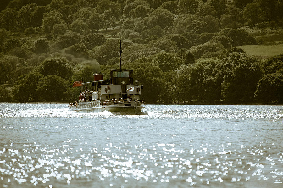 Lakes Photograph - Steaming Across The Lake by Andy Smy