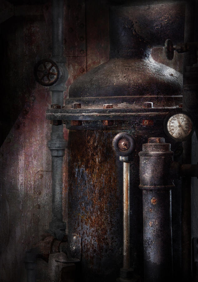 Hdr Photograph - Steampunk - Handling Pressure  by Mike Savad
