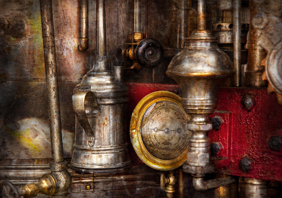 Hdr Photograph - Steampunk - Needs Oil by Mike Savad