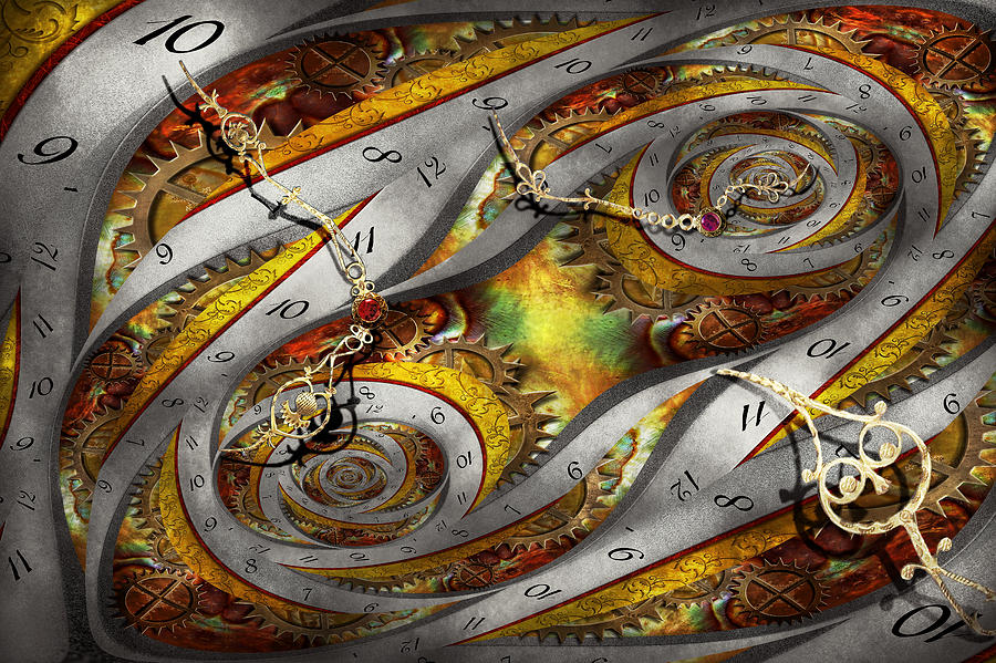 Steampunk Photograph - Steampunk - Spiral - Space time continuum by Mike Savad