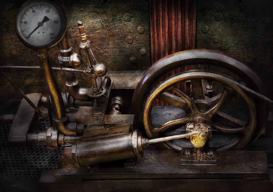 Hdr Photograph - Steampunk - The Contraption by Mike Savad