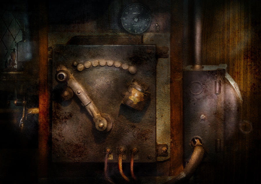 Hdr Photograph - Steampunk - The Control Room  by Mike Savad