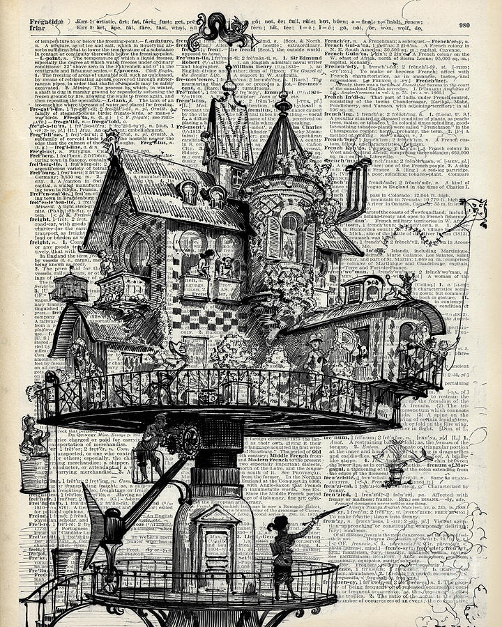 Steampunk House Drawing By Anna W