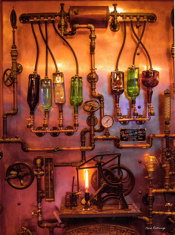 Steampunk Interior Design 3 Liquor Wall Dispenser Atlanta
