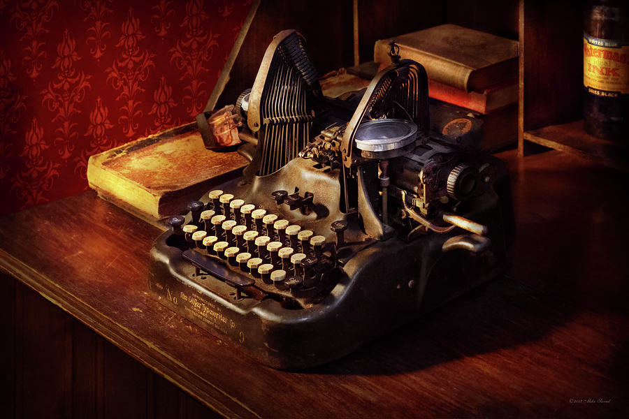 Steampunk Photograph   Steampunk   Olivers Typing Machine By Mike Savad