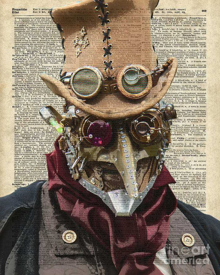 Steampunk Robot Digital Art By Anna W