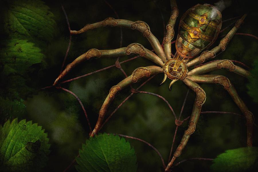 Steampunk Photograph - Steampunk - Spider - Arachnia Automata by Mike Savad