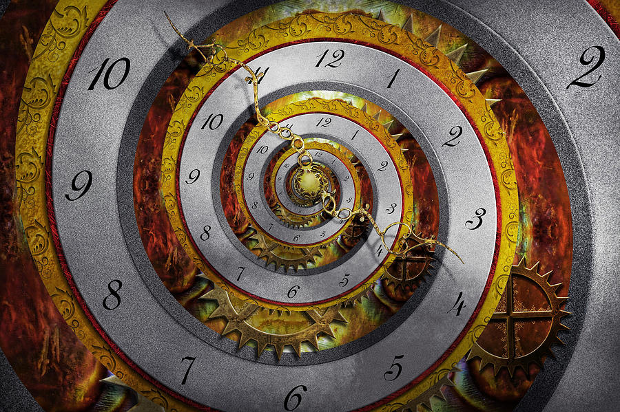 Steampunk Photograph - Steampunk - Spiral - Infinite Time by Mike Savad