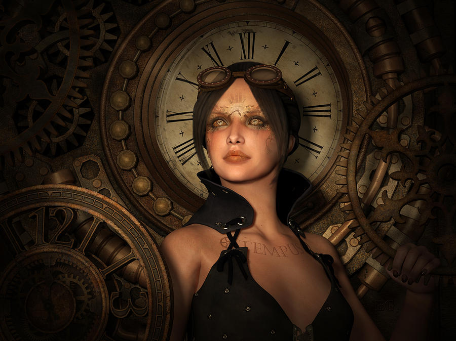 Steampunk Time Keeper Mixed Media