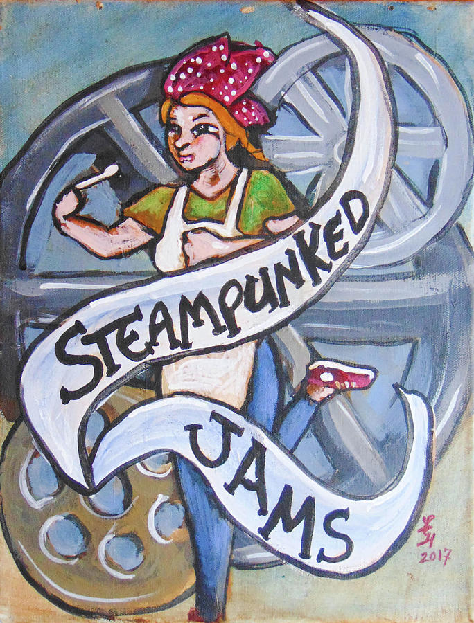 Steampunk Painting - Steampunked Jams by Loretta Nash