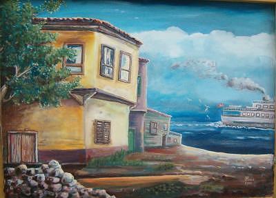 Steamship Painting - Steamship by Fahrettin  Oktay