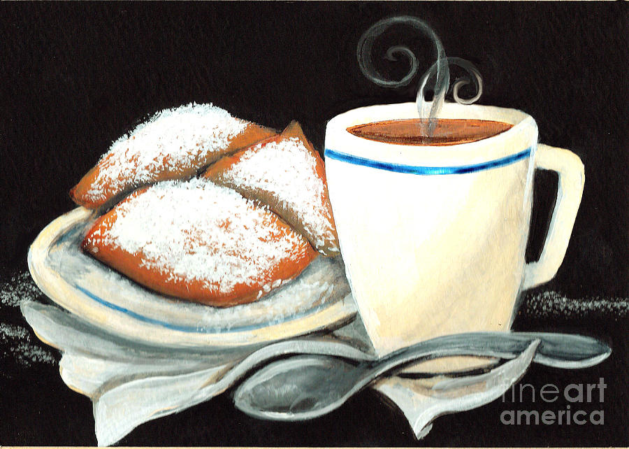 New Orleans Painting - Steamy Coffee Swirls by Elaine Hodges