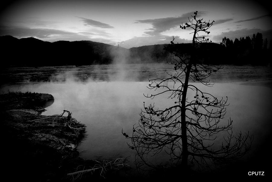 Yellowstone National Park Photograph - Steamy Pool by Carrie Putz