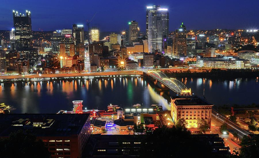 Steel City At Blue Hour Photograph