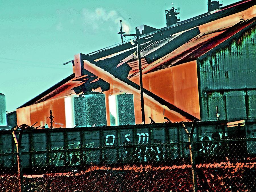 Abstract Digital Art - Steel City Cfi by Lenore Senior